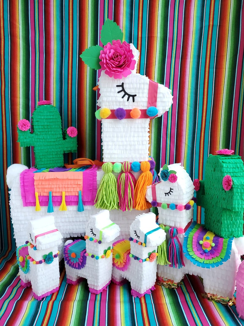 Llama Pinata for Cactus Fiesta Shower - Llama Birthday Party - Llama Shower Decorations - Pretty Collected