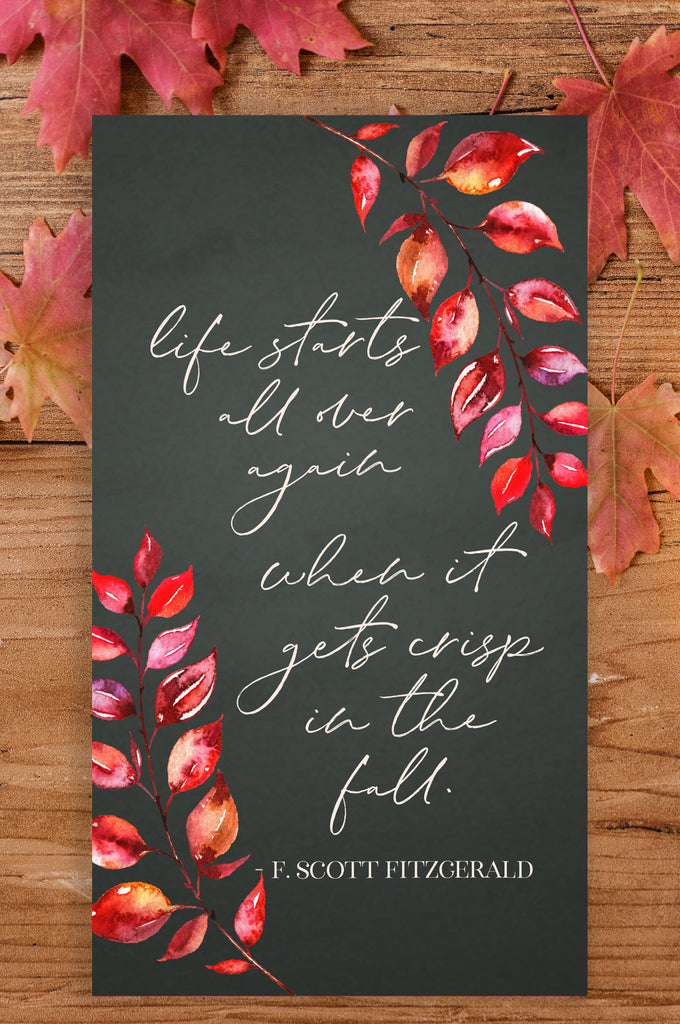 Life Starts All Over Again When it Gets Crisp in the Fall Wallpaper - Fall Wallpaper - Pretty Collected