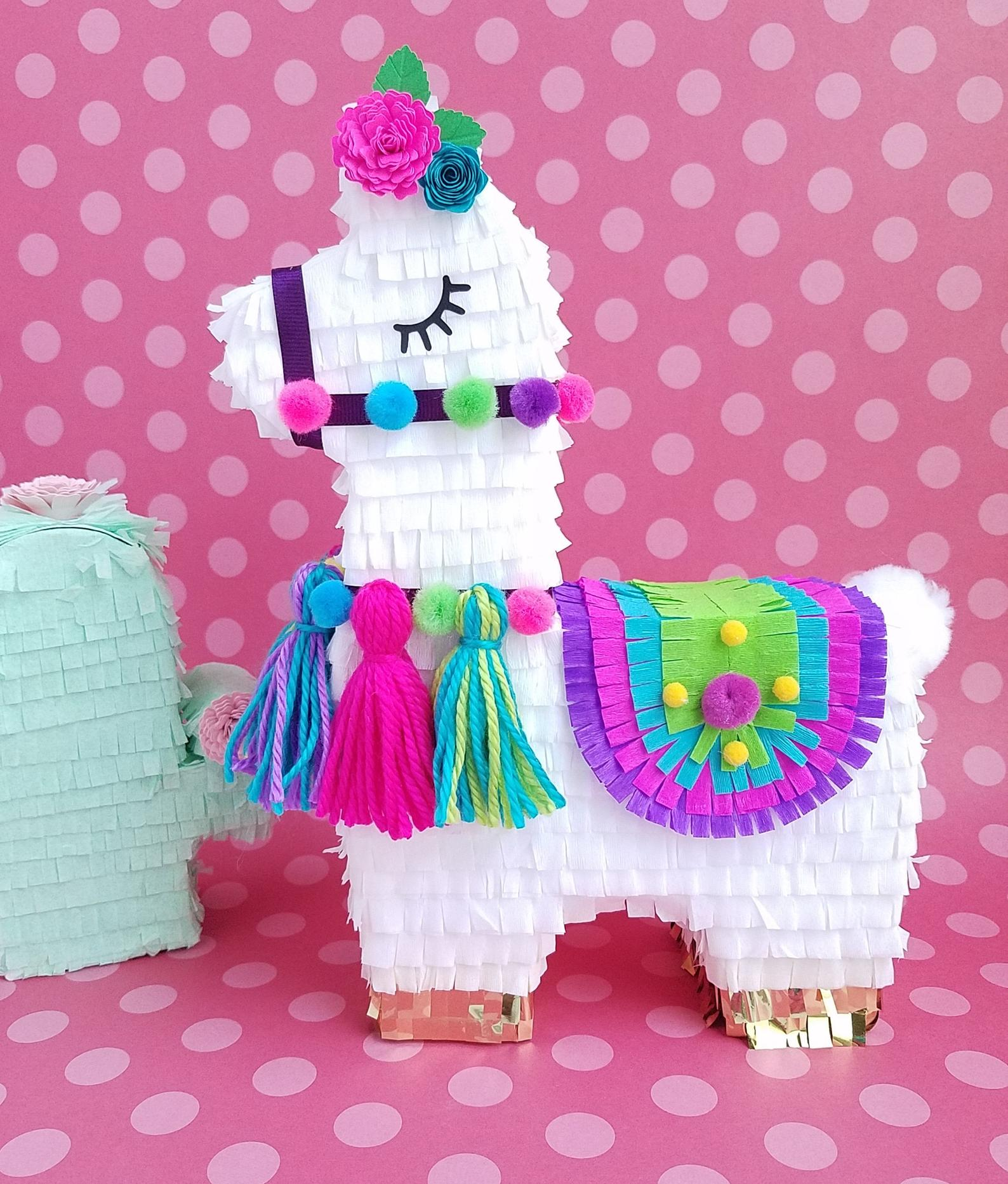Llama Pinata Decorations - Llama Birthday Party Pinata - Llama Shower Decor - Fiesta Shower Decorations
