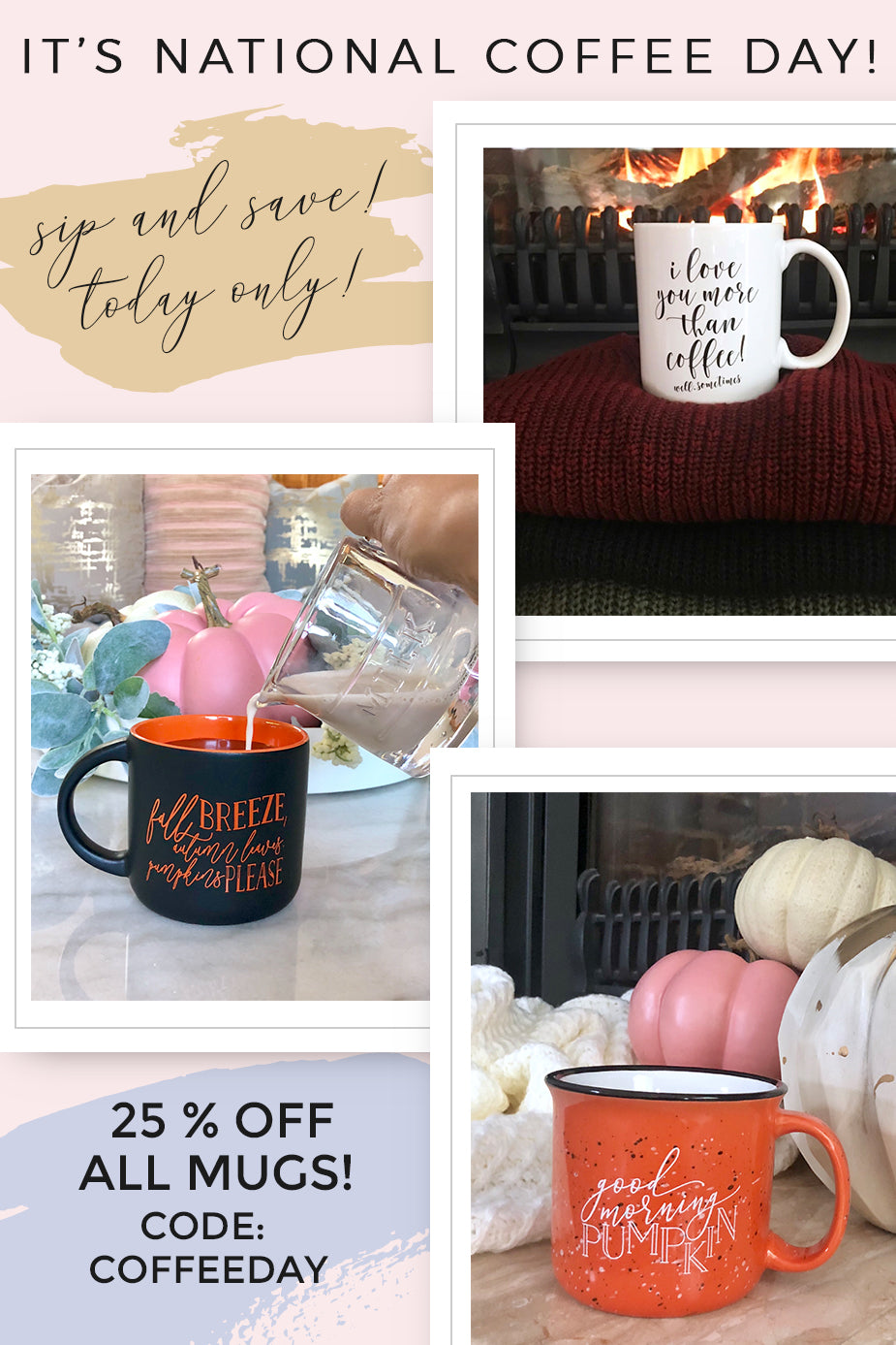 National Coffee Day - Fall Coffee Mugs - Pretty Collected