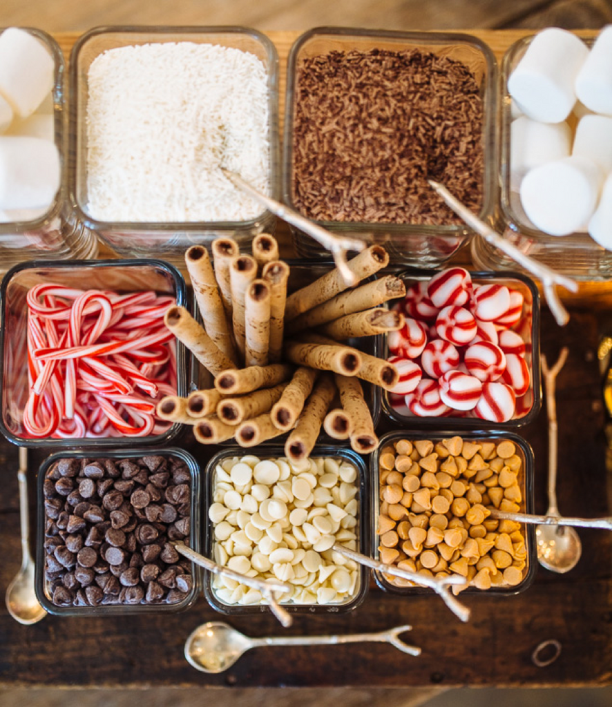 Hot Chocolate Bar Supplies - Perfect Hot Chocolate Toppings - Hot Chocolate Bar Pinterest