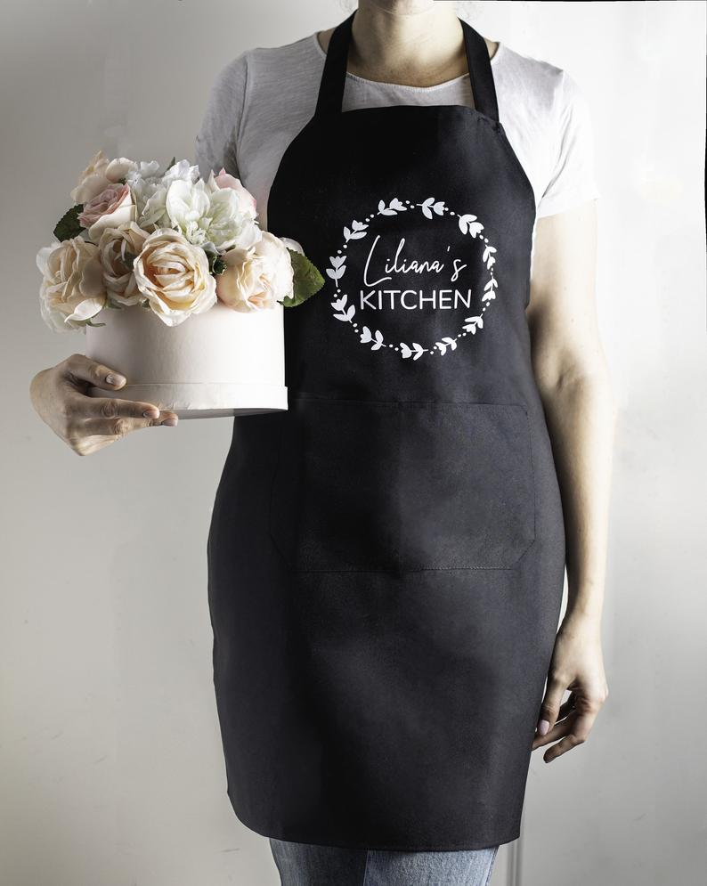 Personalized Apron, Funny Apron with pocket, Personalized Gift for her, Custom Aprons for Women , Hostess Gift Ideas Baking Gifts