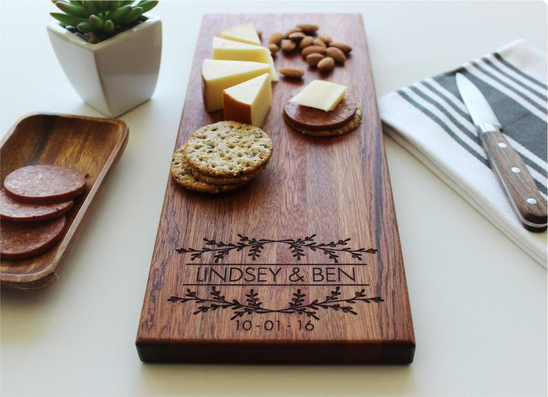 Personalized Cheese Board, Valentines Day Gift, Housewarming, Charcuterie Board, Engagement Gift for Couple, Custom Cutting Board, Wedding