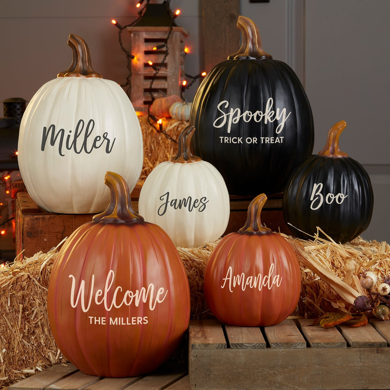 Personalized Pumpkin Decor - Fall Gift - Fall Decor - Fall Porch Decor