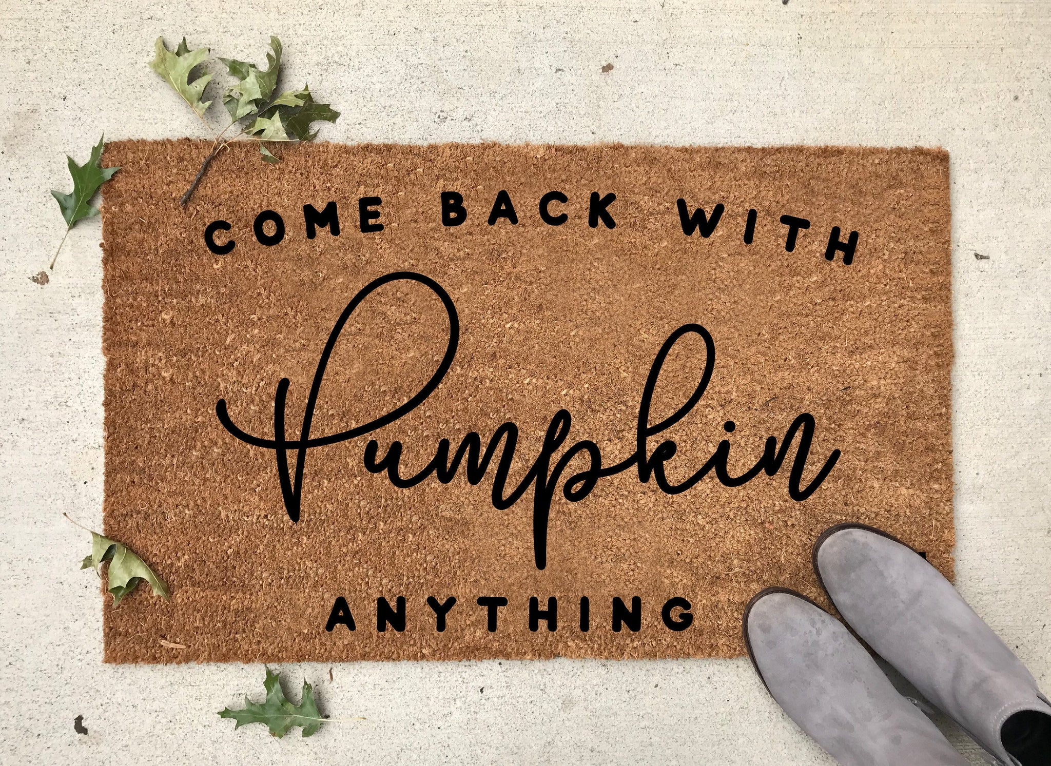 Fall Welcome Mat - Fall Home Decor - Pumpkin Mat