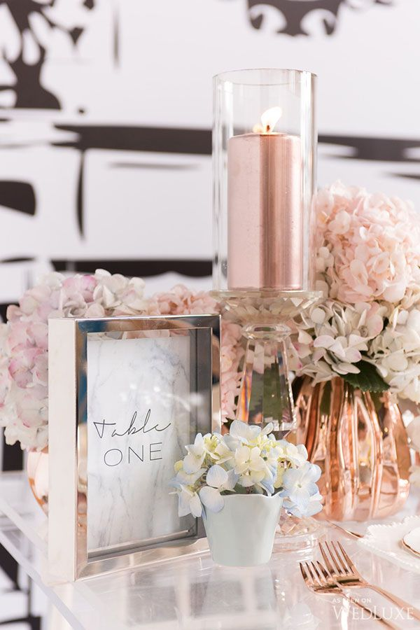 Rose Gold Bridal Shower Decor