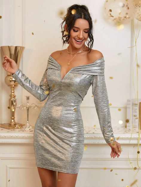 Silver Dress - Party Dress - New Years - New Years Dress