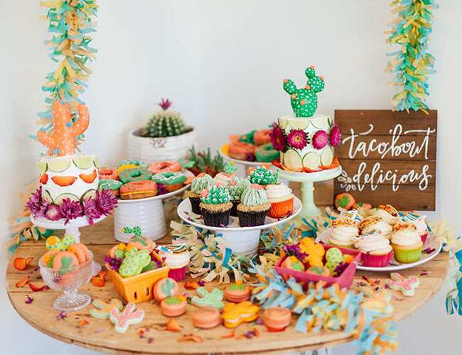 Fiesta Shower Dessert Bar - Cinco de Mayo Desserts - Fiesta Party Decorations