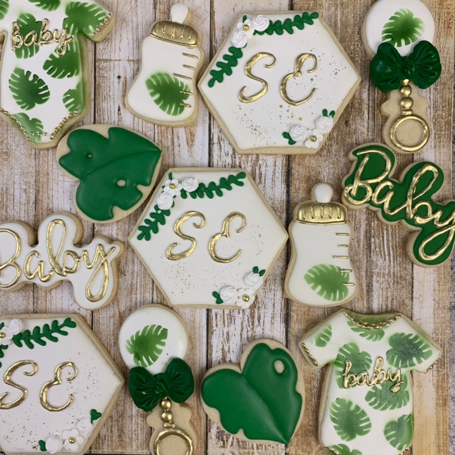 Tropical Baby Shower Cookies - Hawaiian Luau Cookies