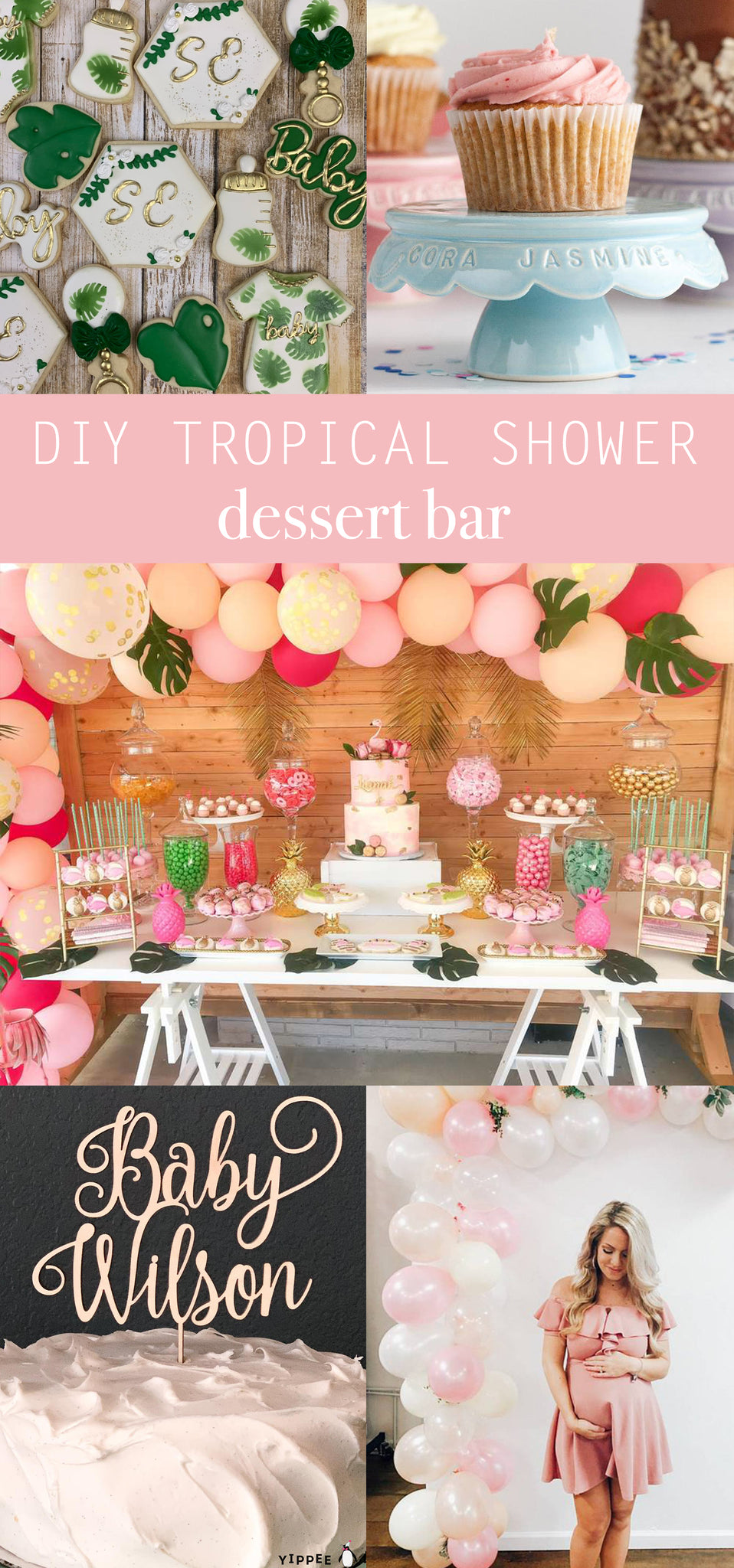 Tropical Baby Shower Decor - Hawaiian Luau Baby Shower Dessert Bar - Pretty Collected