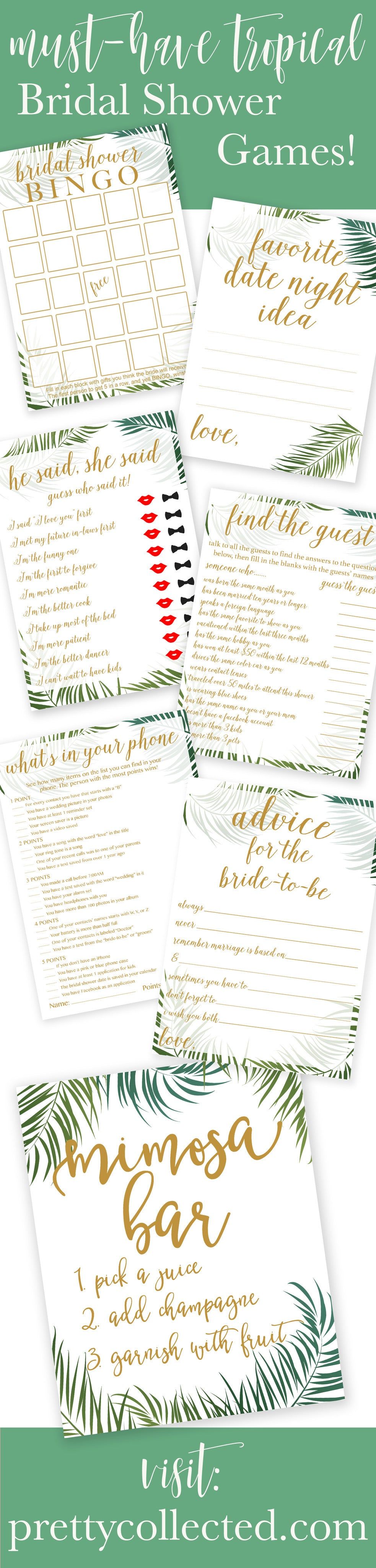Tropical Bridal Shower Games Your Guests Will Want to Play