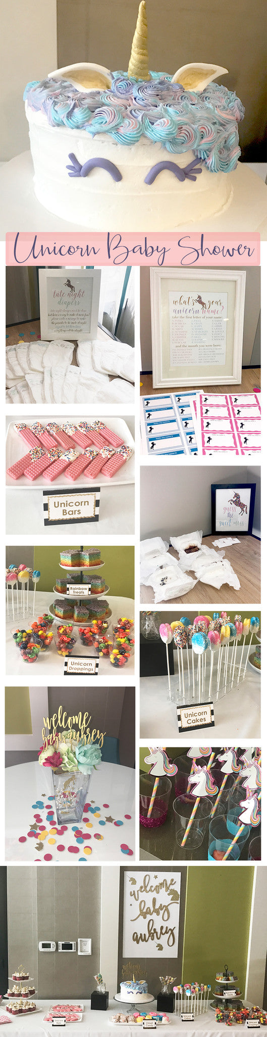 Unicorn Baby Shower Ideas and Inspiration - Pretty Collected