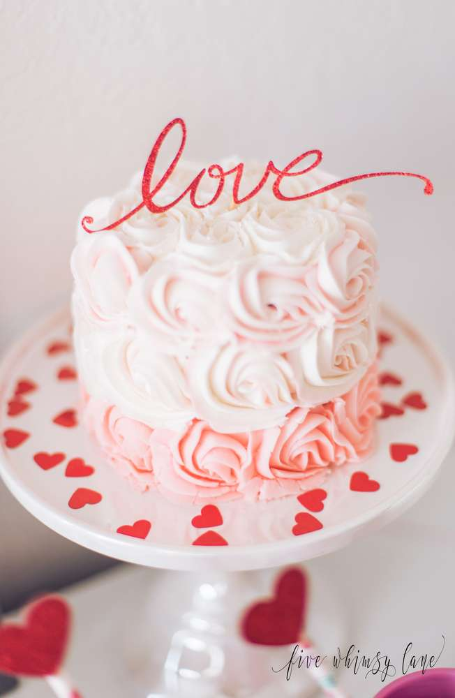 Valentine's Day Party Desserts - Love Cake - Love Cake Topper