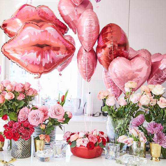 Valentine' Day Decorations - Lips Balloons - Pretty Collected