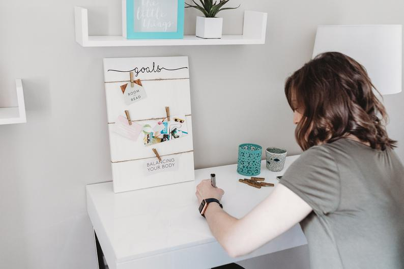 Vision Board | Dream Board | Inspiration Board | Vision Board Party | Goal Planner | Goal Setting | Vision Board Sign | Home Office