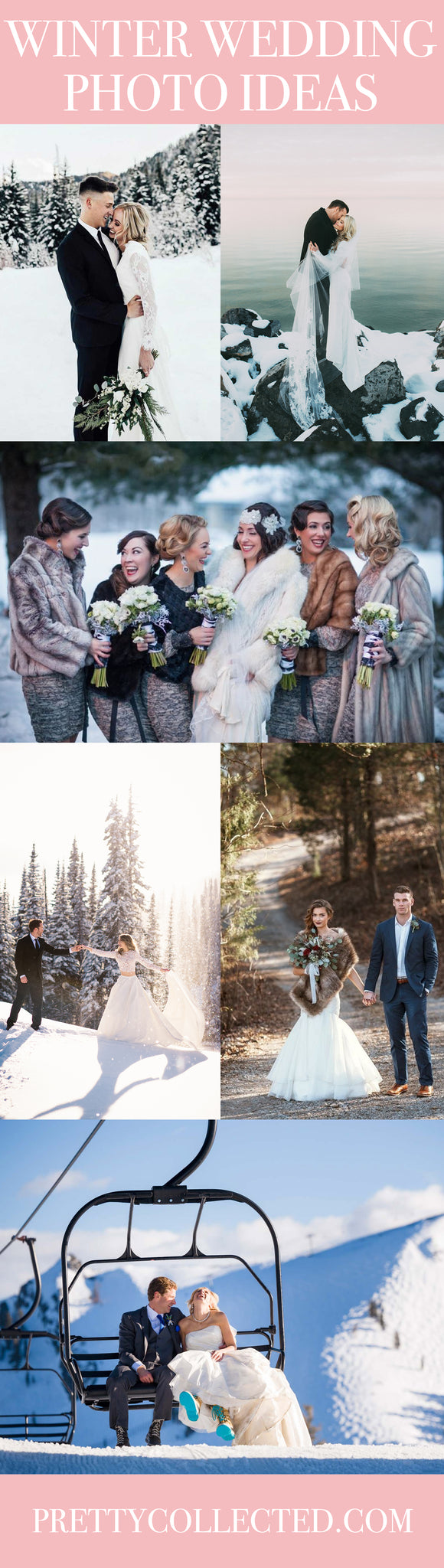Winter Wedding Photo Ideas - Winter Wedding Photography - Pretty Collected