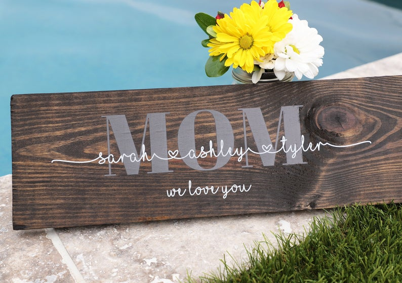 mother's day gift, gift for mom, mom birthday gift, mom gift, gift from kids, grandma gift, gift for grandma, mom gift from kids, mom sign