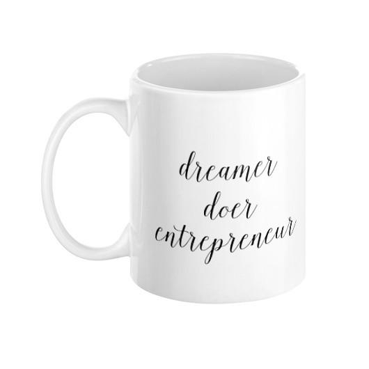 Dreamer, Doer, Entrepreneur Mug - Pretty Collected