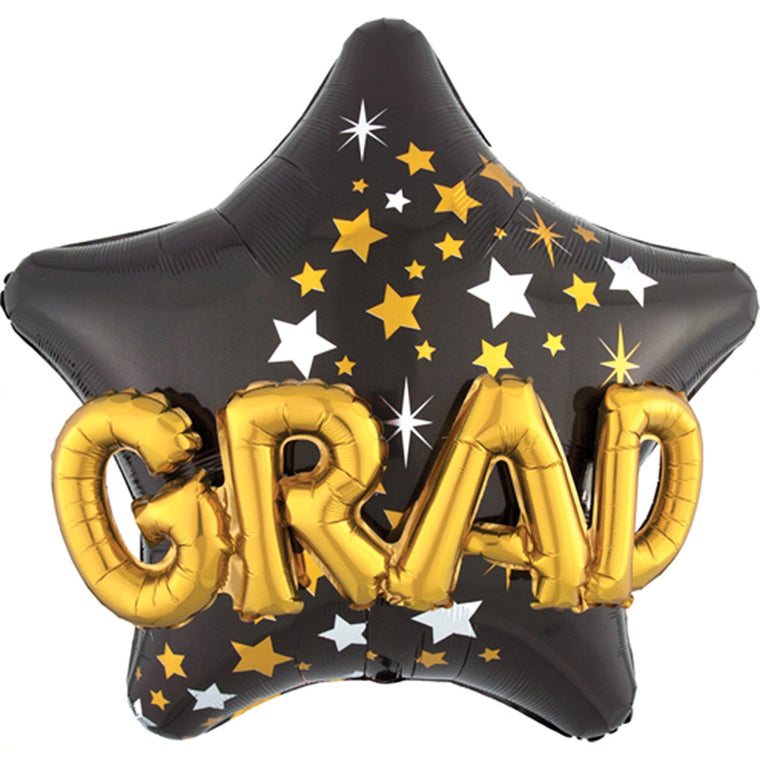 3D Grad Star Balloon - Pretty Collected