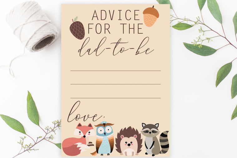 Advice for Dad-To-Be - FREE Woodland Printable - Pretty Collected