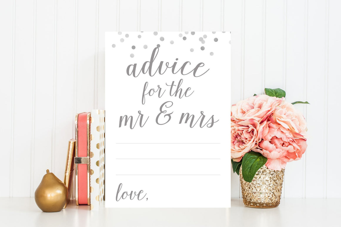 Advice for the Mr & Mrs - Grey Printable - Pretty Collected