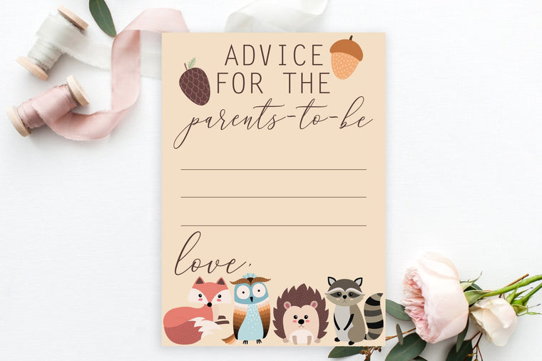 Advice for Parents-To-Be - Woodland Printable - Pretty Collected