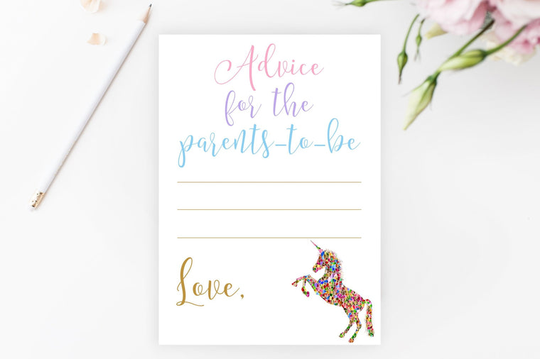 Advice for Parents-To-Be - Unicorn Printable - Pretty Collected