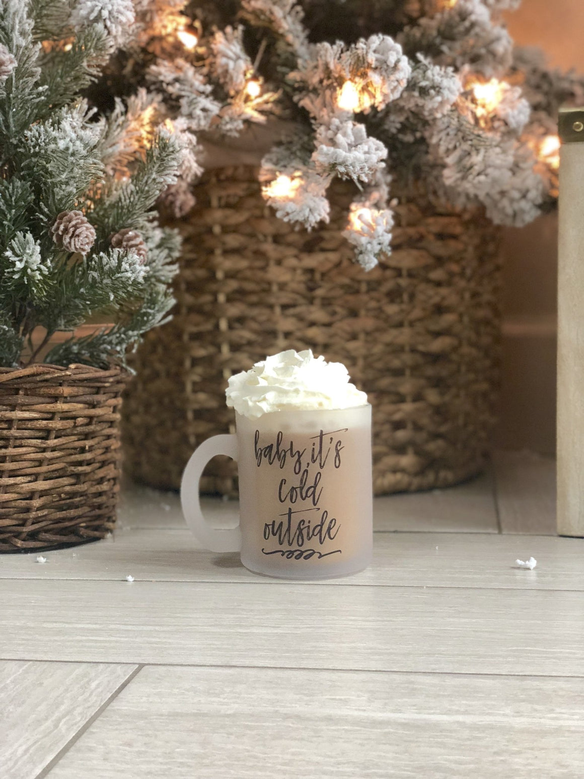 Baby, It's Cold Outside Frosted Mug - Pretty Collected