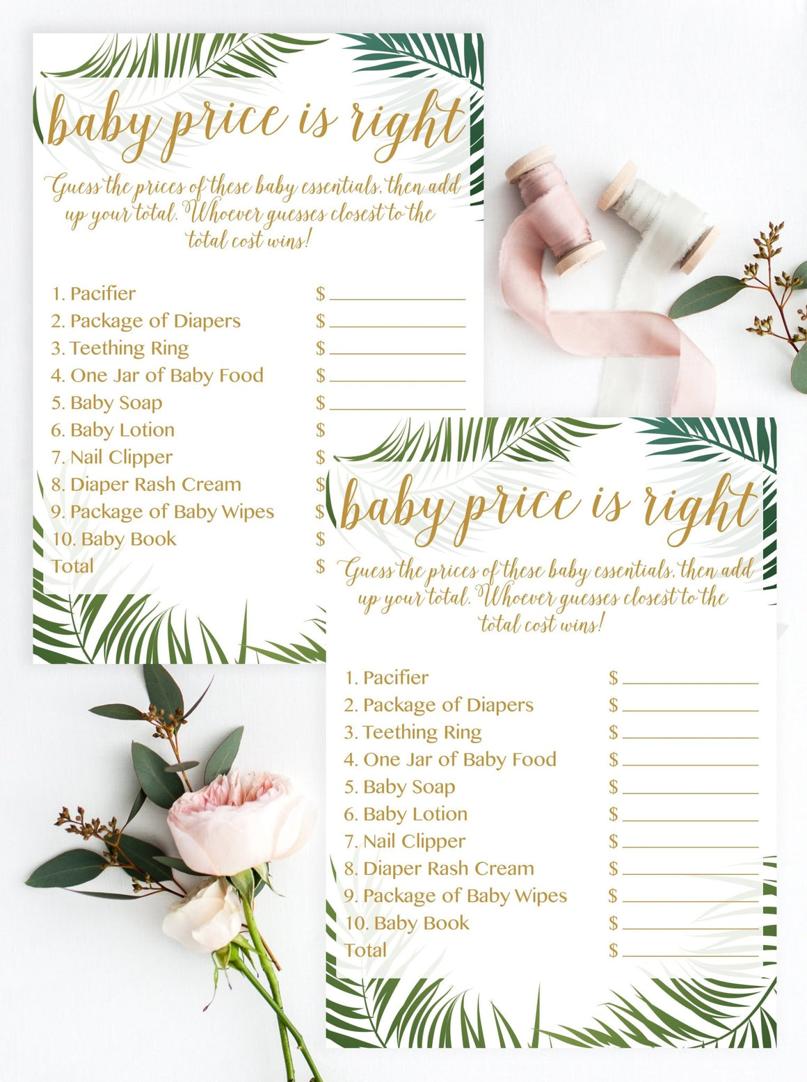 Baby Price Is Right - Tropical Printable - Pretty Collected