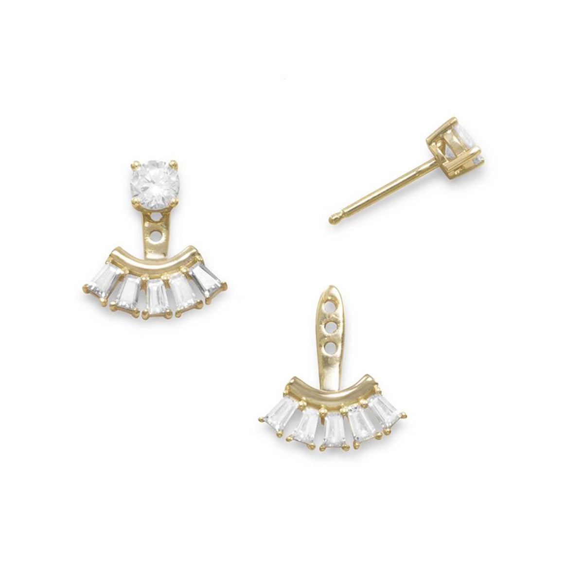 Paris Baguette Ear Jacket Earrings - Pretty Collected