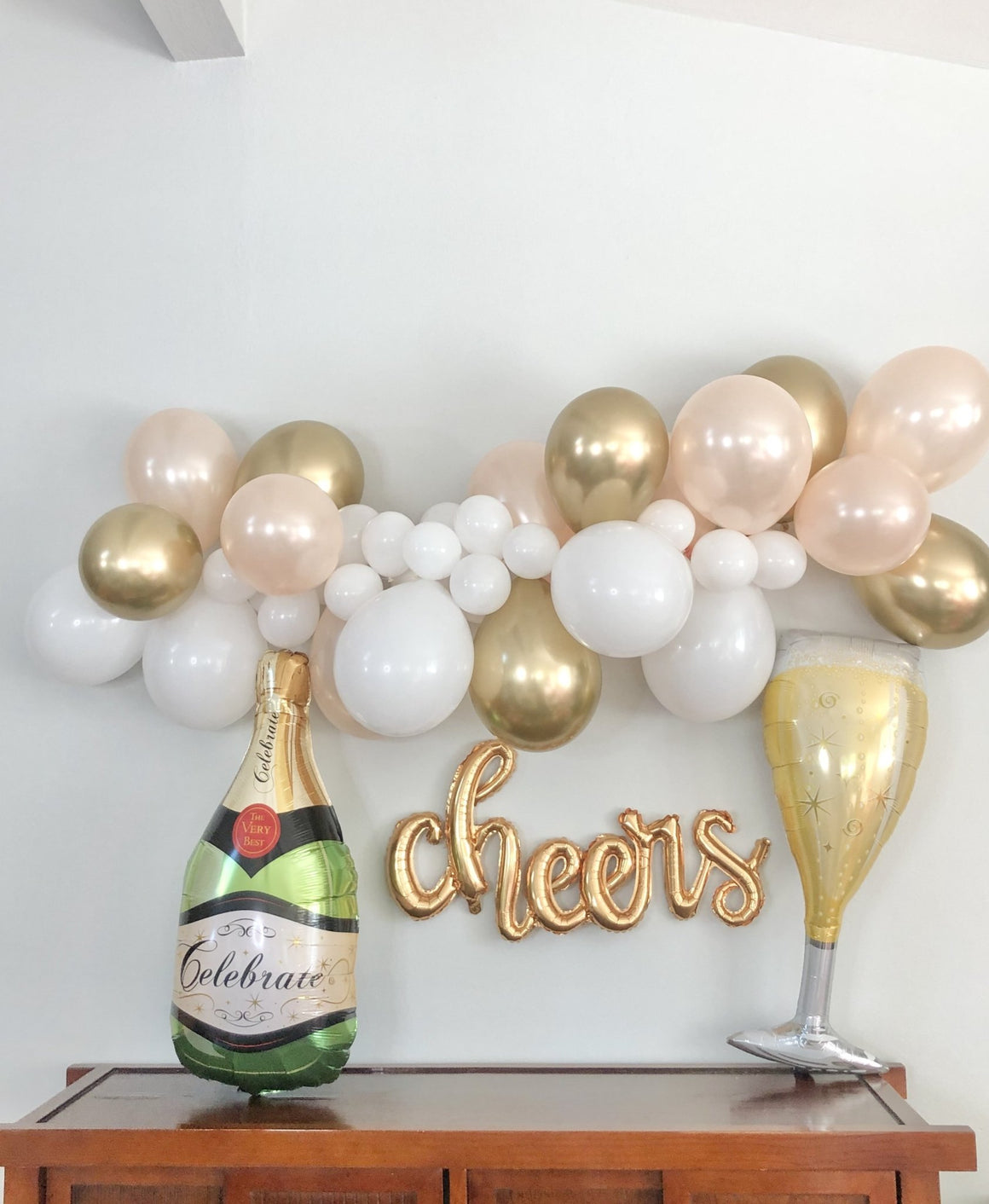 Champagne Bottle Balloon - Pretty Collected