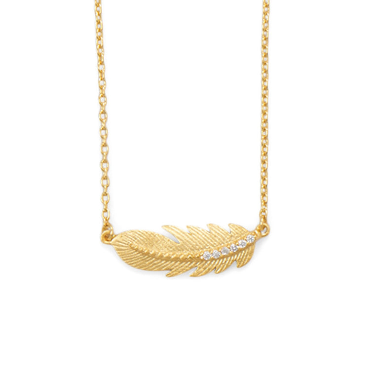 Boho Feather Necklace - Pretty Collected
