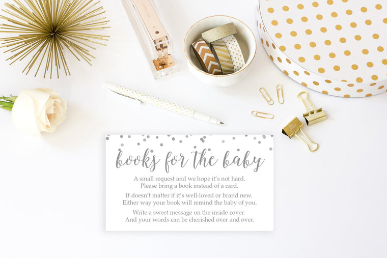 Bring a Book - Grey Confetti Printable - Pretty Collected