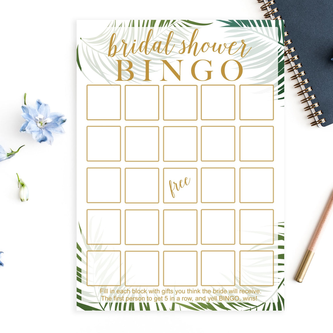 Bridal Shower Bingo - Tropical Printable - Pretty Collected