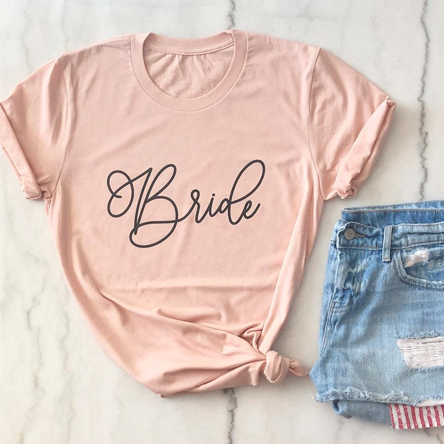 Bridesmaid Tee - Black Lettering - Pretty Collected