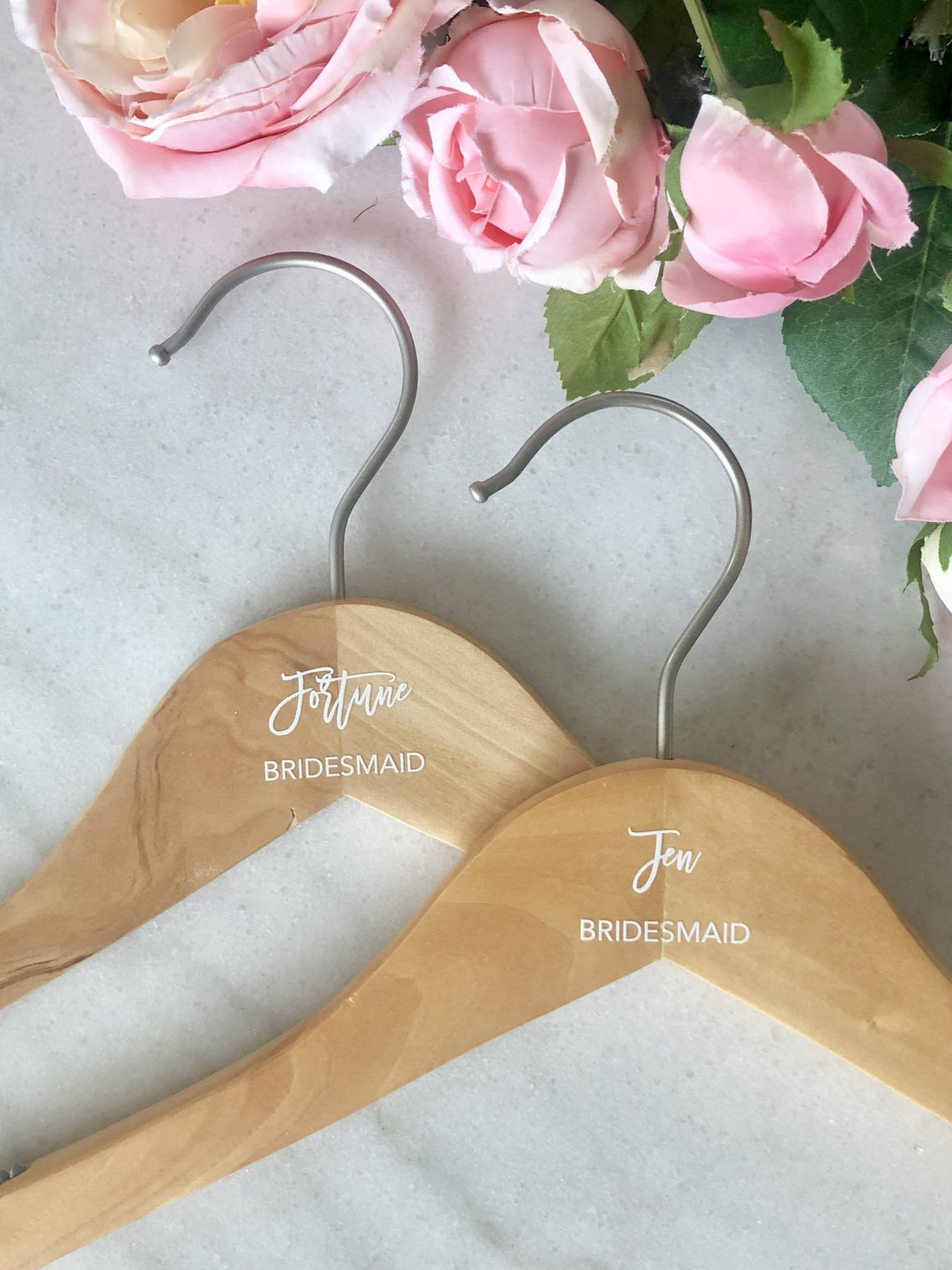Personalized Bridal Party Hangers - Pretty Collected