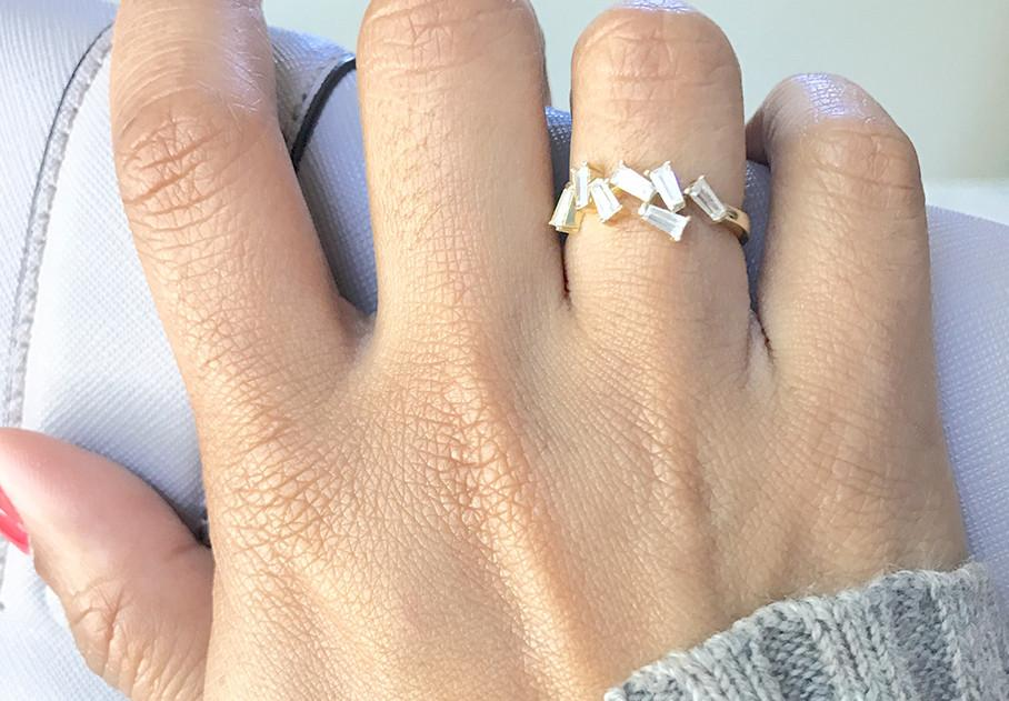 Bridget Baguette Ring - Pretty Collected
