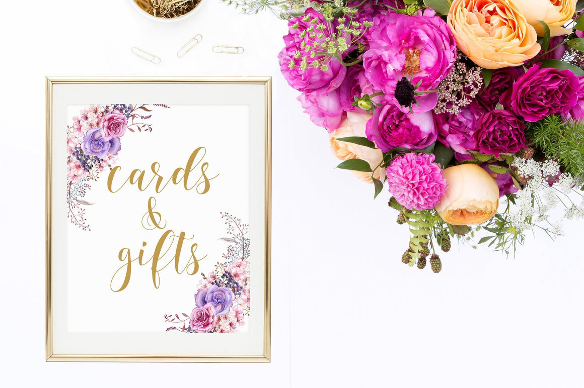 Cards & Gifts Sign - Rustic Printable - Pretty Collected