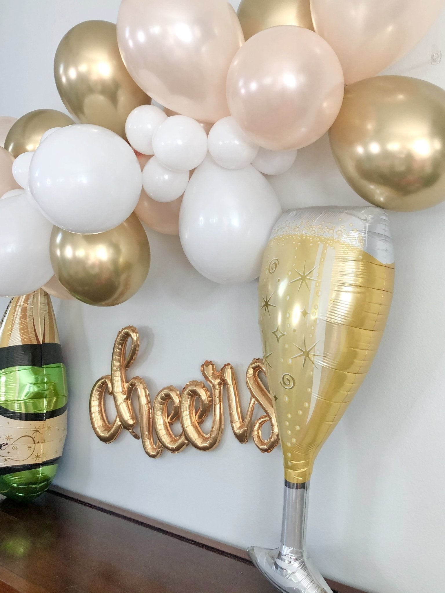 Champagne Glass Balloon Engagement Party Bridal Shower Balloons Pop Fizz Clink New Years Eve Decor Champagne Balloon Bachelorette Birthday