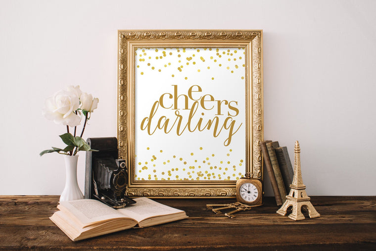 Cheers Darling Printable - Pretty Collected