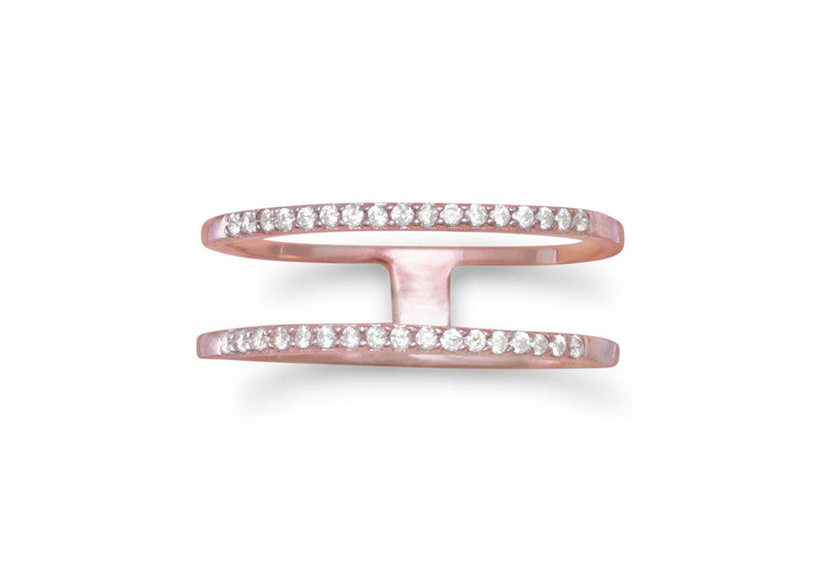 Chloe Double Row Ring - Rose Gold