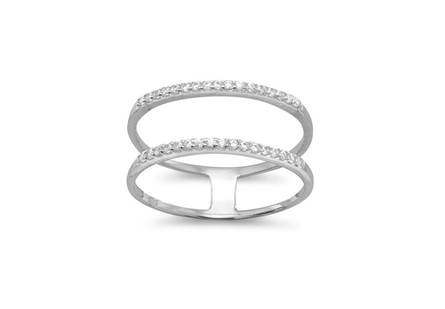 Chloe Double Row Ring - Silver