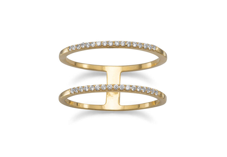 Chloe Double Row Ring - Gold