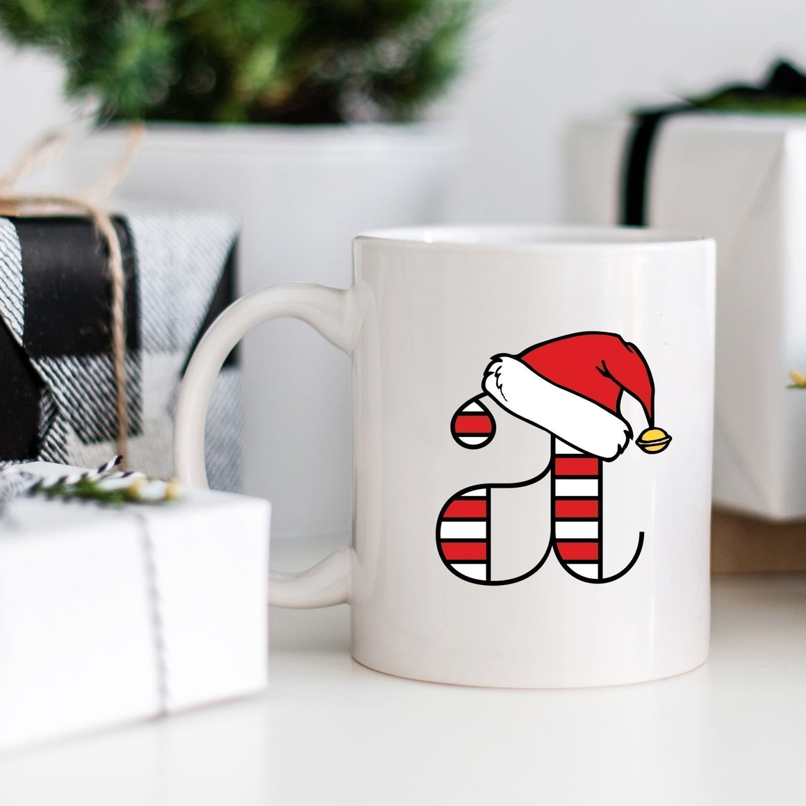Candy Cane Monogram Mug - Pretty Collected