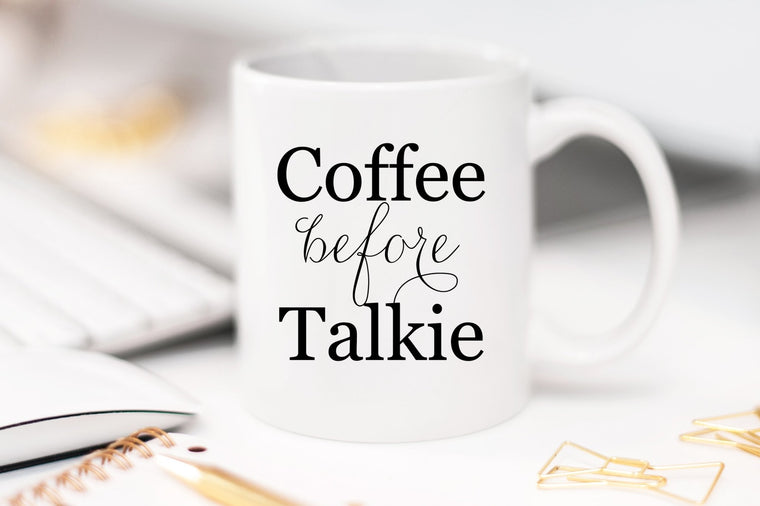 Coffee Before Talkie Mug - Pretty Collected