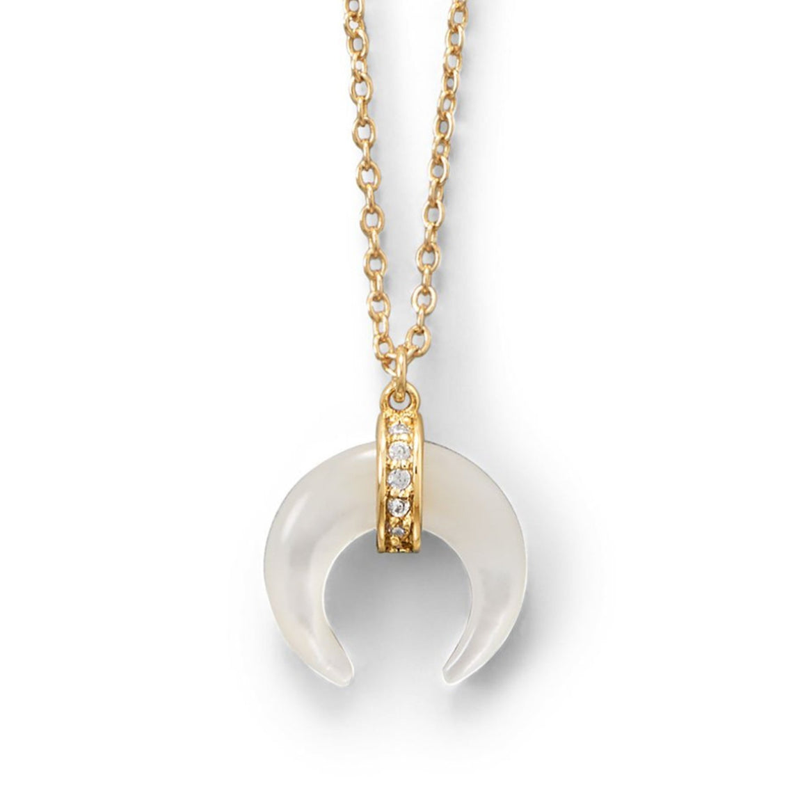 Mother Of Pearl Horn Necklace - Pretty Collected
