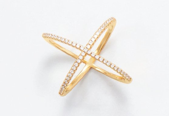 Sofie X Ring - 18 Karat Gold Plated - Pretty Collected