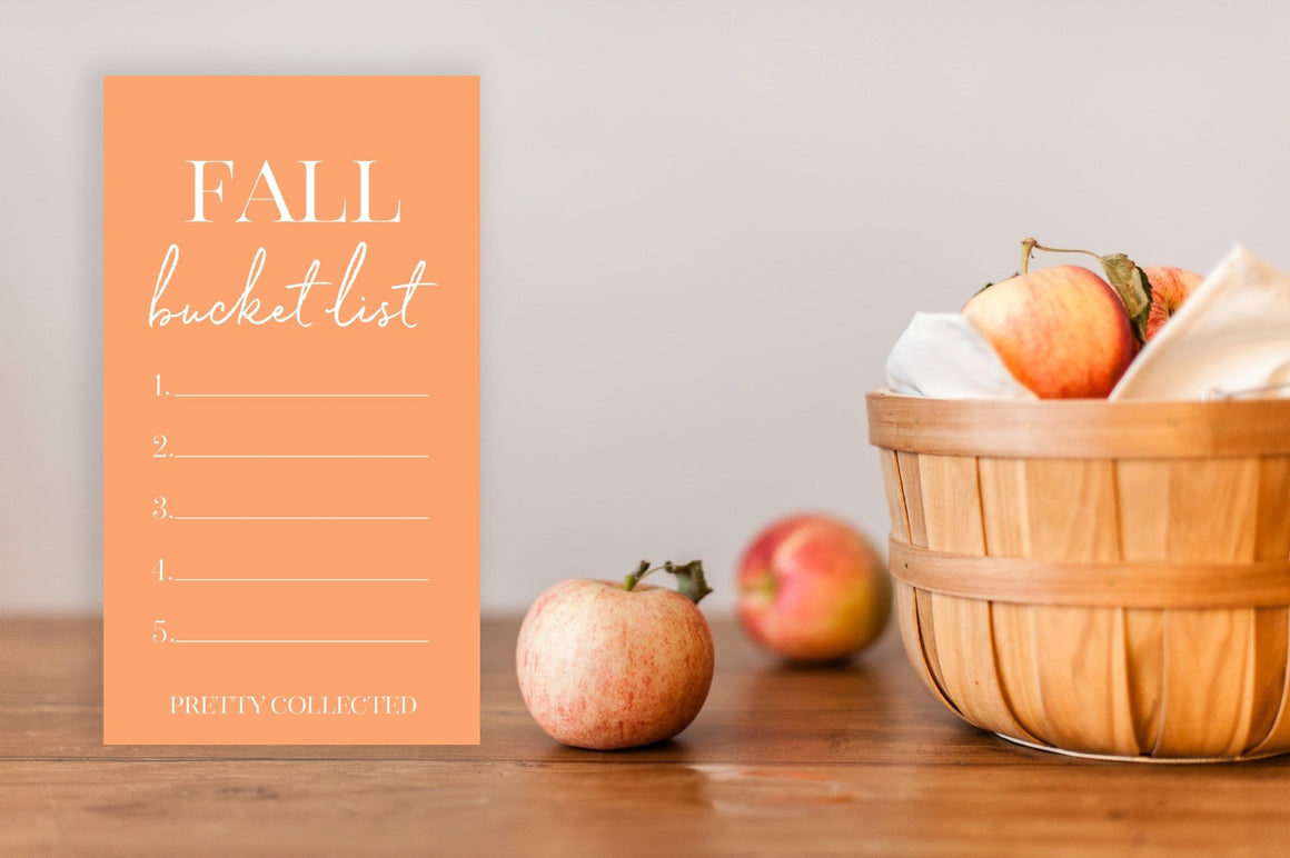 Fall Bucket List Wallpaper - FREE Printable - Pretty Collected