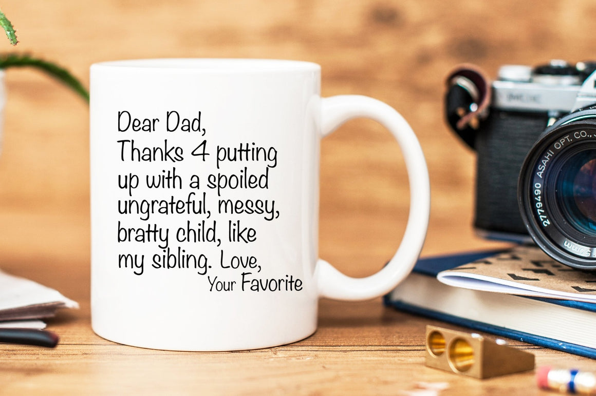 Dear Dad Mug - One Sibling Version - Pretty Collected