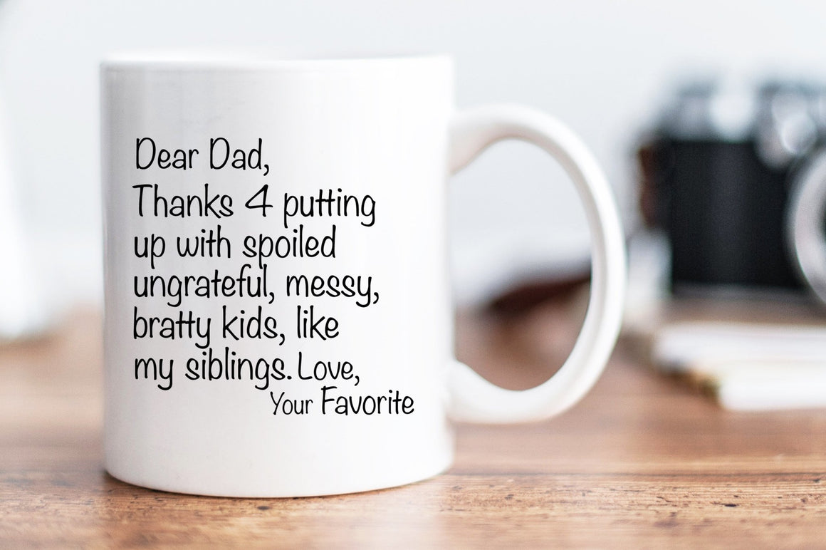 Dear Dad Mug - Multiple Siblings Version - Pretty Collected